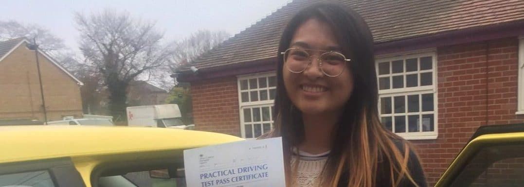 First Time Pass !! Well done to Miss Wing Tie Haung from Bournemouth
