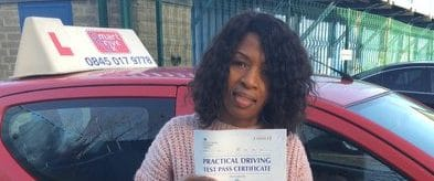 First Time Pass !! Well done to Tudu Mhutsiwa from Bognor Regis