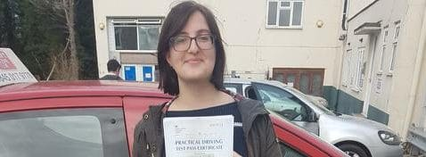 First Time Pass!! Congratulations to Tia from Bognor Regis