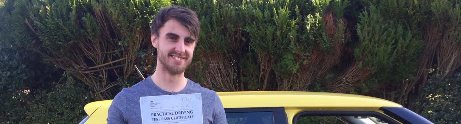 First Time Pass !! Well done to Alex from Poole
