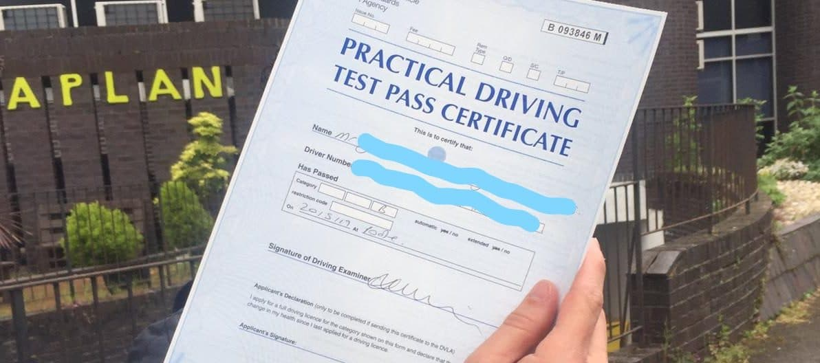 Zero Faults!! First Time Pass!! Well Done Jose from Poole