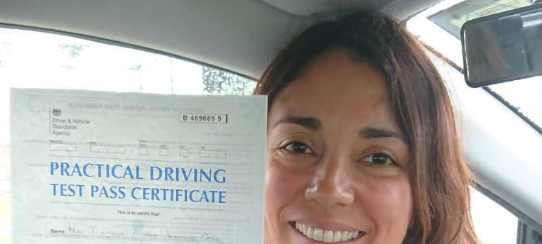 First Time Pass !! Congratulations to Andrea of Bromley