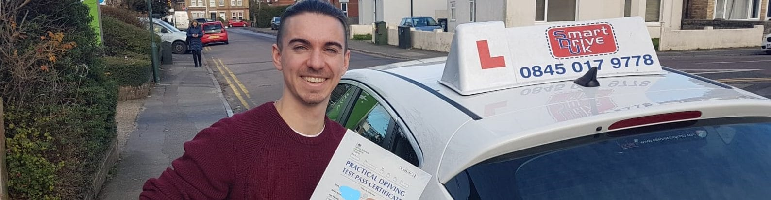 First Time Pass !! Well done Matthew from Bournemouth