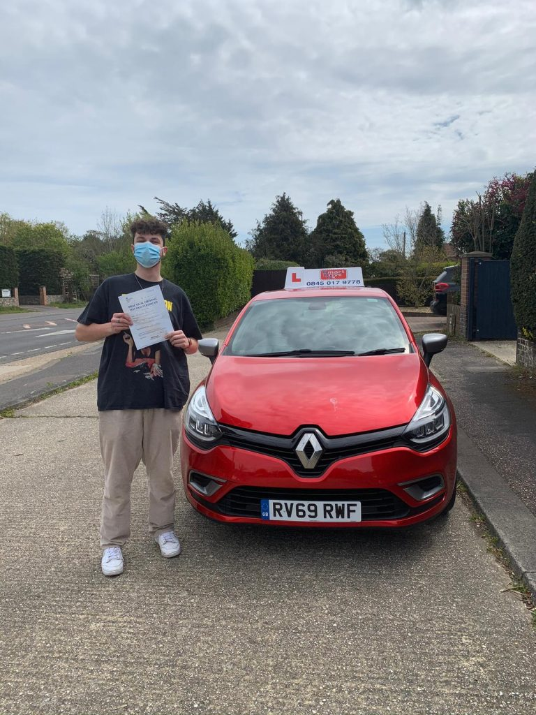 First Time Pass!! Well done to Max from Worthing