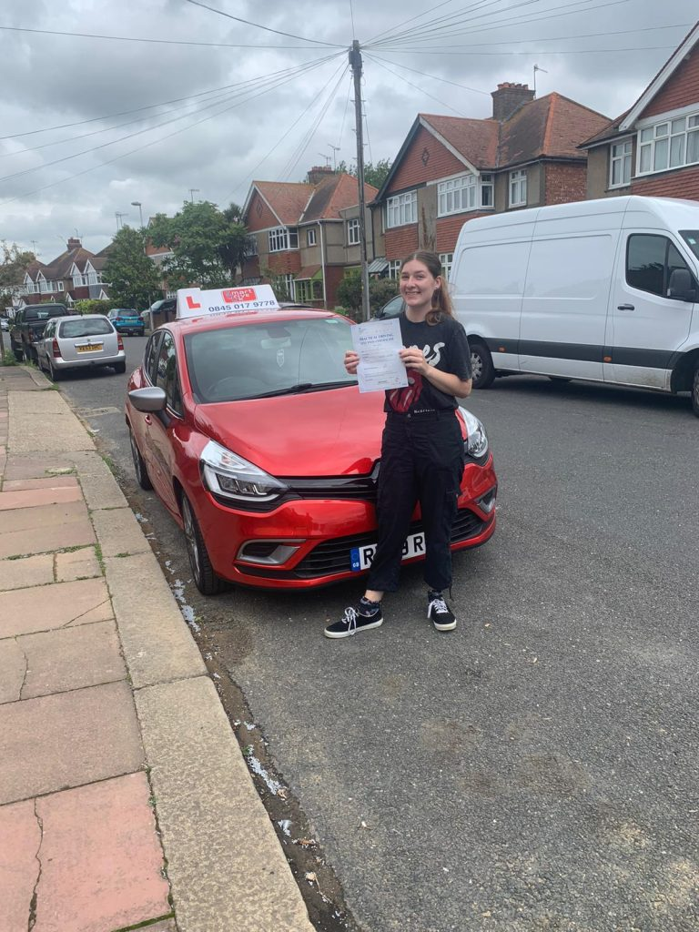 First Time Pass !! Congratulations to Jennah in Worthing.