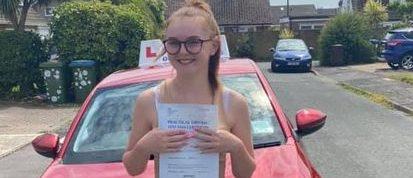 First Time Pass !! Congratulations to Hannah from East Preston, Littlehampton