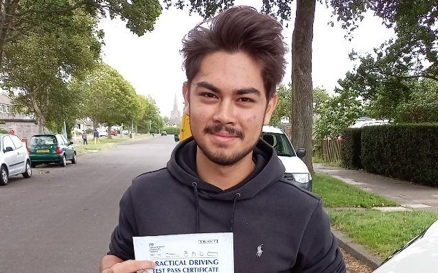 First Time Pass !! Congratulations to Aarash from Worthing